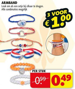 Ook leuke, bijpassende #armbandjes voor #Koningsdag kunnen natuurlijk niet missen! Bekijk de folder van Kruidvat nu op www.reclamefolder.nl of download de app.