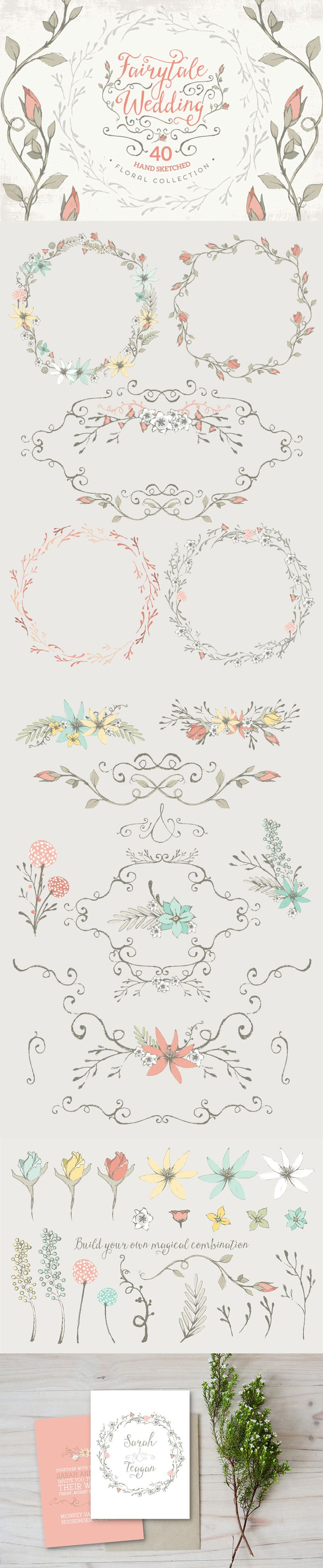best ideas about floral border calligraphy we ve included a vast range of quality items covering decorative flourishes patterns textures vintage items effects packs floral designs