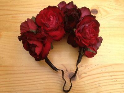365 dagen creatief: Frida Kahlo flower crown - bloemen kroon