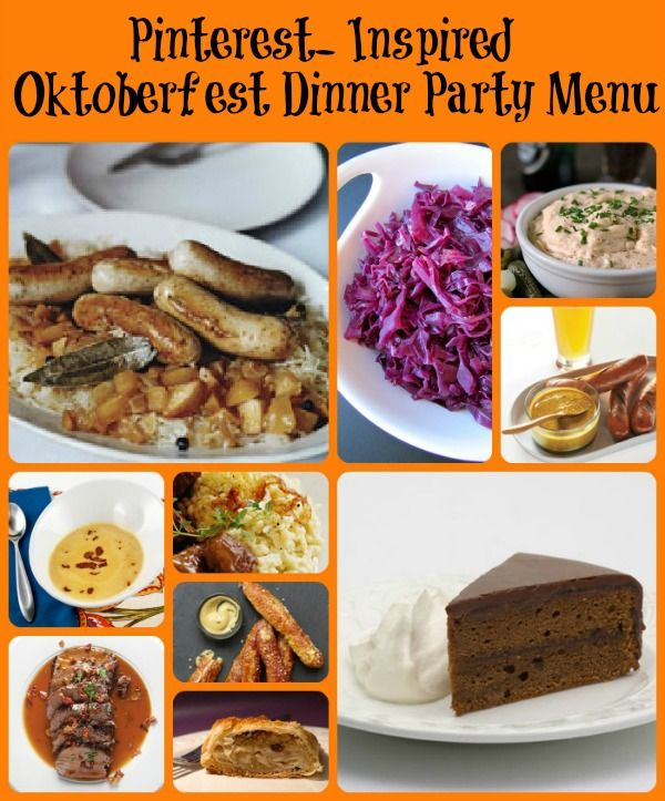 Pinterest Inspired Oktoberfest Dinner Party Menu- photos and recipes included