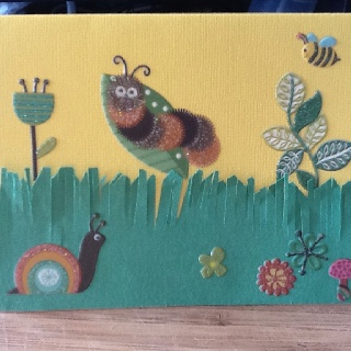 bugs. loving the hairy factor of the caterpillar!