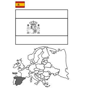 spaanse vlag kleurplaat - Google zoeken