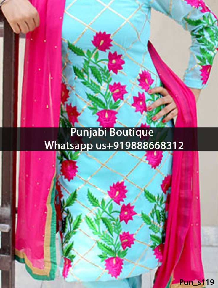 Blue And Magenta Embroidery Suit Product Code: Pun_s119 To order this dress , please call or WhatsApp us at +919888668312 We can design this Suit in any color combination or on any fabric (price may vary according to fabric)