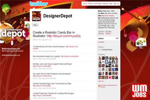 3to30 Graphics Skills: Twitter And YouTube Background - World Micro Jobs