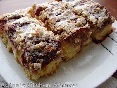 Adina's kitchen & travel: Prajitura cu prune si nuca