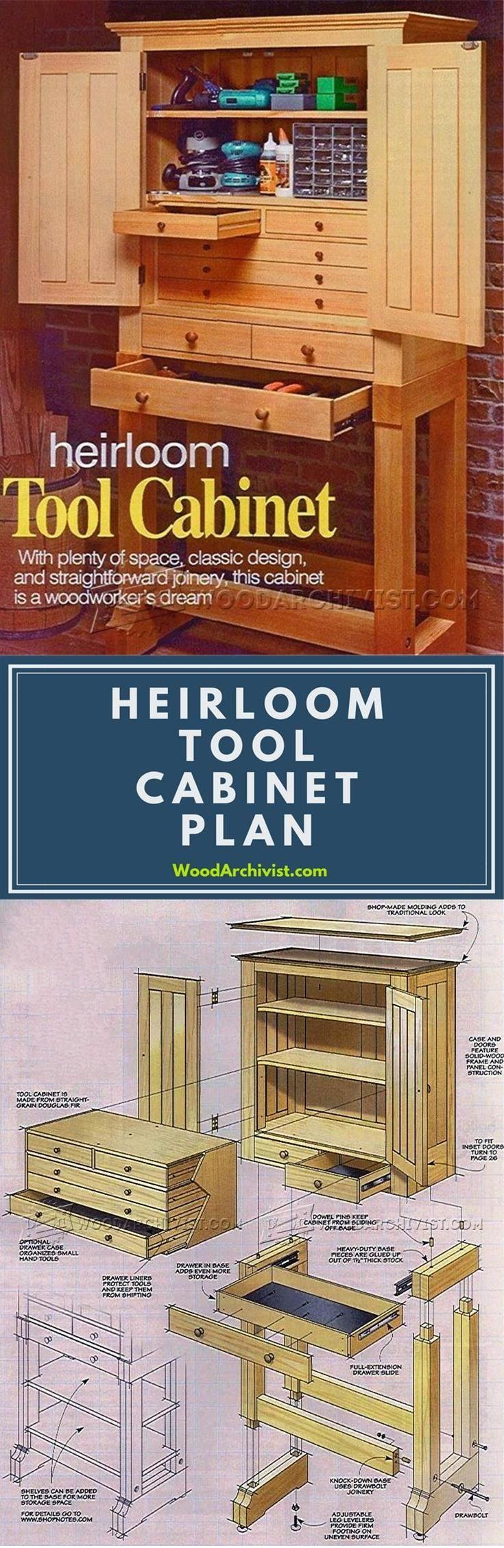 Heirloom Tool Cabinet Plans - Workshop Solutions Plans, Tips and Tricks | WoodArchivist.com