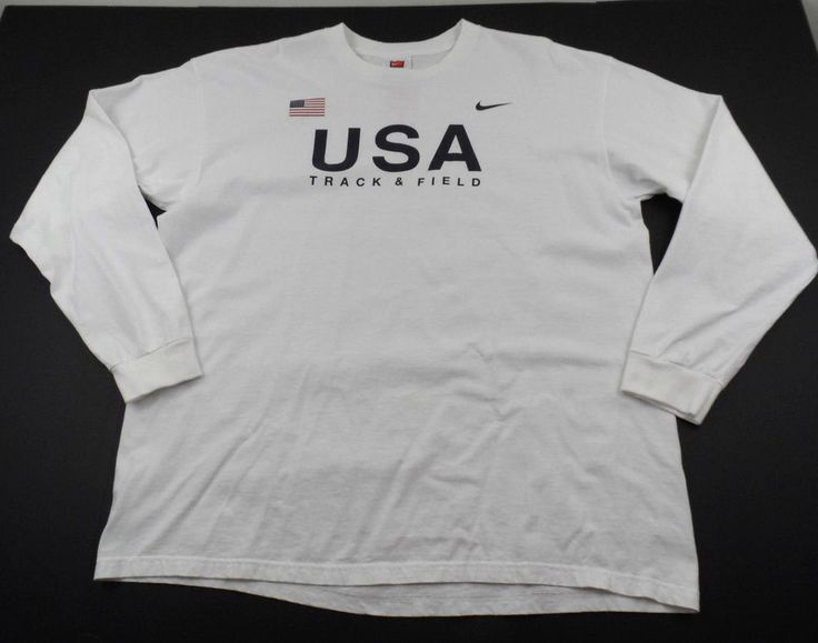 Nike Team USA Track and Field USATF Shirt Olympics Mens XL Crewneck Long Sleeve #Nike #GraphicTee