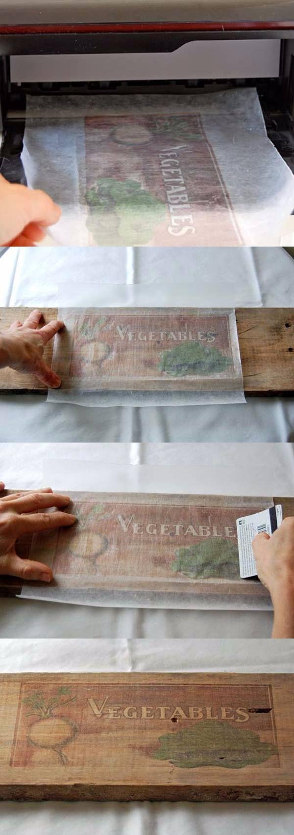DIY vintage para tus muebles de madera - ideasdiy.com - DIY paper wax wood transfer