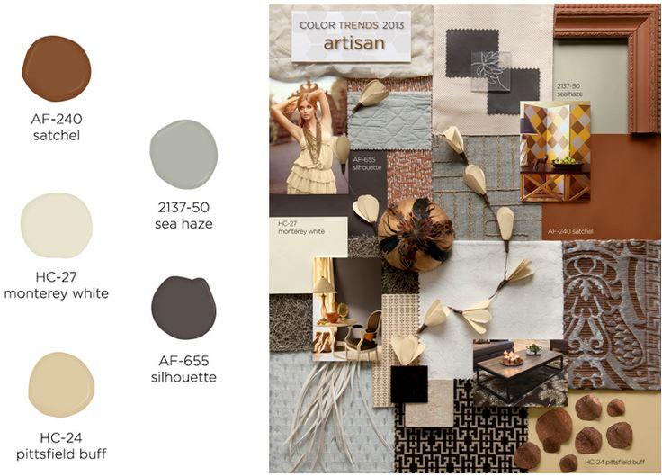 Benjamin moore color trends 2013 artisan palette for Benjamin moore monterey white
