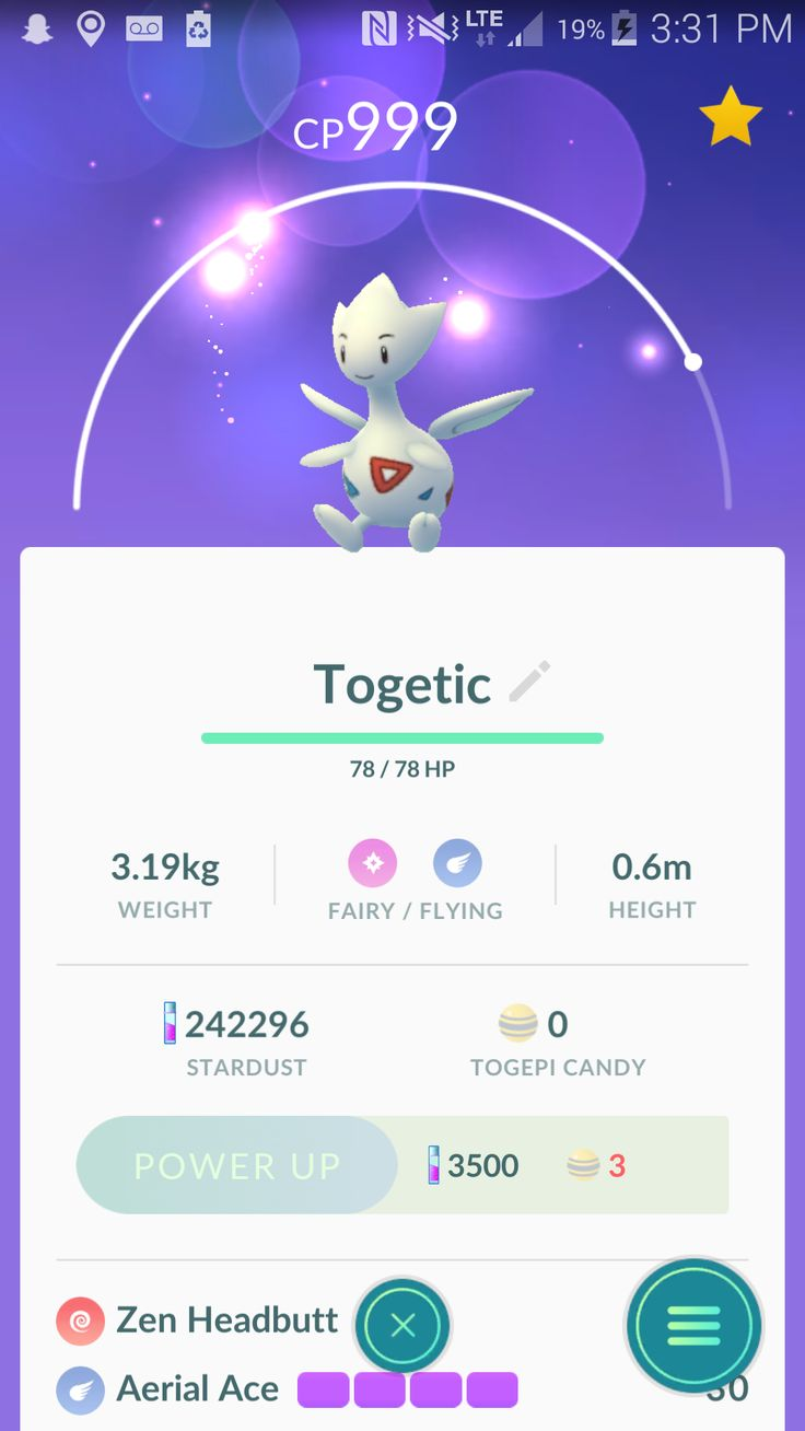 After walking 75km with my Togepi I was able to evolve one.