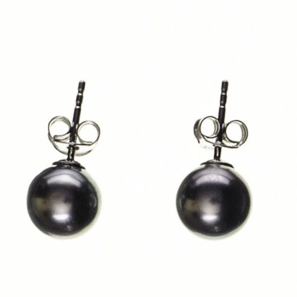 Black Titania Tahitian Black Pearl Ear Studs (5 650 UAH) ❤ liked on Polyvore featuring jewelry, earrings, iridescent earrings, butterfly stud earrings, pearl earrings, peacock earrings and pearl stud earrings