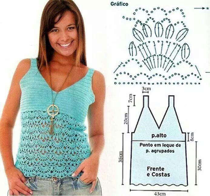 430 best Crochet Clothes images on Pinterest | Ropas de ganchillo ...