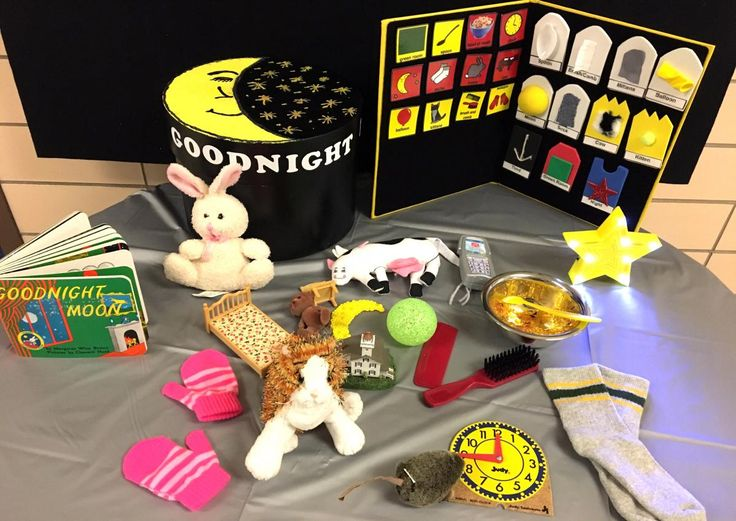 Tips and activity ideas to make Goodnight Moon accessible to children with visual impairments and multiple disabilities