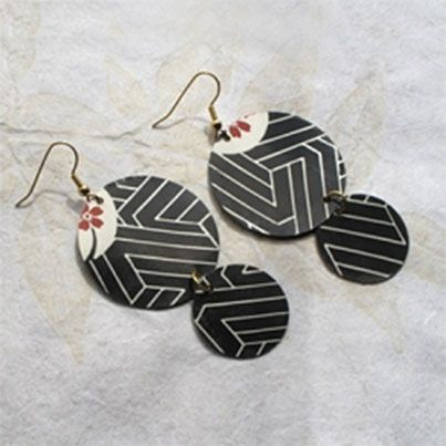 DIY Upcycled Sushi Tray Earrings