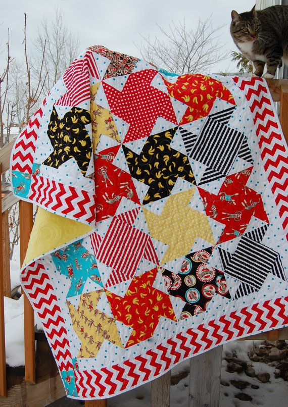 Swing Dance Quilt Pattern by fresh cut quilts downloadable pdf Quilt pattern- FQ, Fat Quarter quilt cute for baby or kid quilt