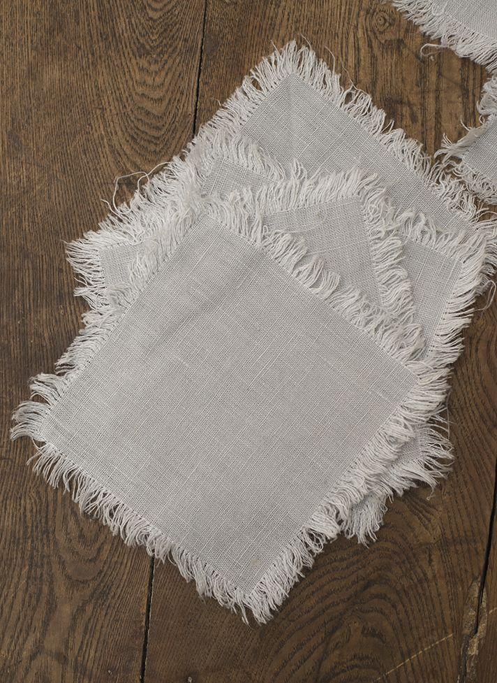 #LinenWay #Cocktail Napkin #Linen #Napkin #Fringed Napkin #Stone-Washed Linen #Stone-Washed Napkin