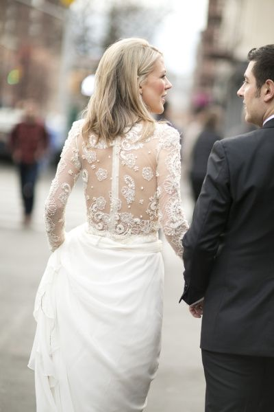 Embroidered and beaded wedding dress: http://www.stylemepretty.com/collection/2115/ Photography: Raquel Reis - http://michellemarch.com/blog/