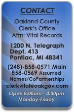 Apply for a Marriage License - Vital Records | Oakland County, Michigan