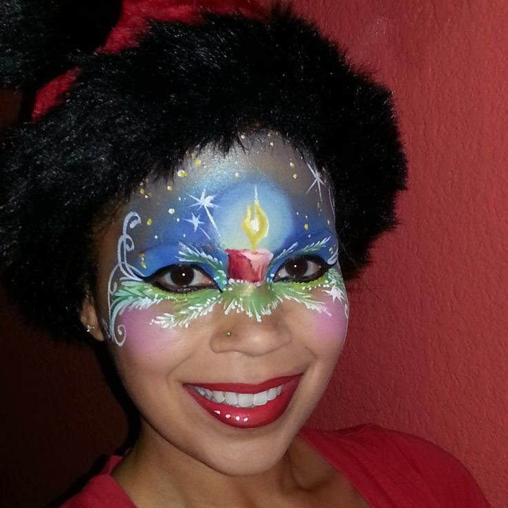 christmas face painting images | Illusion Christmas Face Painting Competition