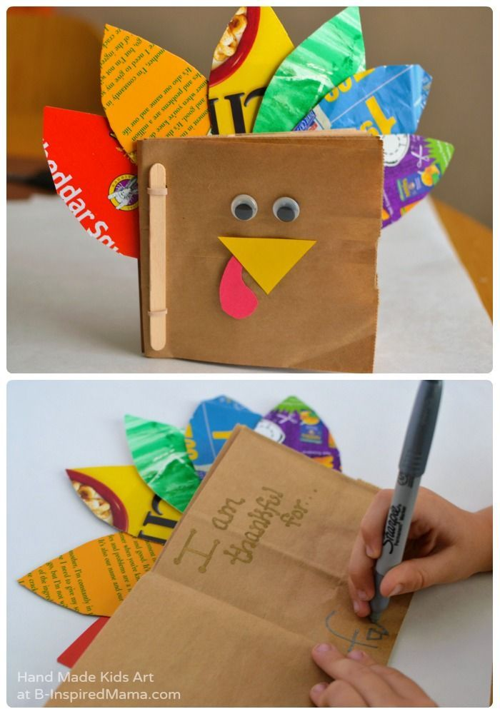 Thanksgiving Crafts for Kids - A Thankful Turkey Book - B-Inspired Mama