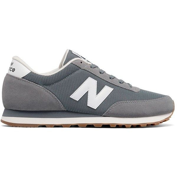 New Balance 501 Mixed-Media Suede-Blend Sneakers ($65) ❤ liked on Polyvore featuring men's fashion, men's shoes, men's sneakers, grey, mens round toe shoes, mens grey suede shoes, mens suede sneakers, new balance mens sneakers and mens suede shoes