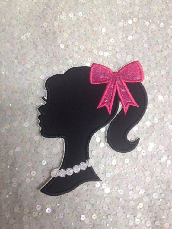 Iron on applique: 2 3 inch Barbie silhouettes by EmbroiderMe2