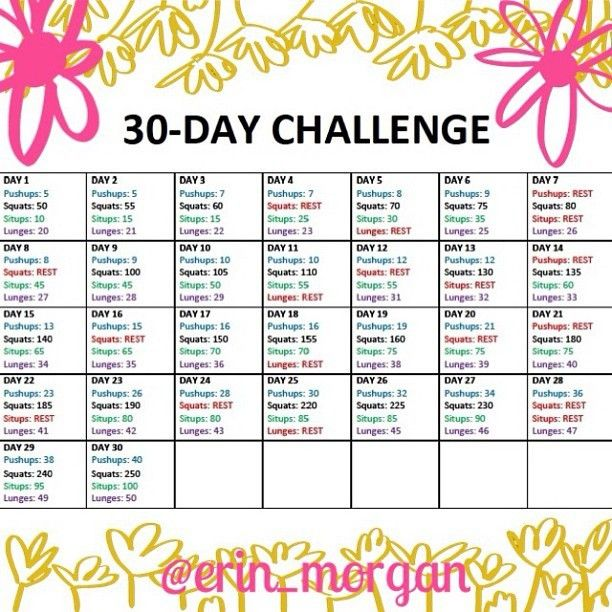 30 day exercise challenge   July Fitness Challenge and 30 Day Exercise Challenge ~ Metallman's ...