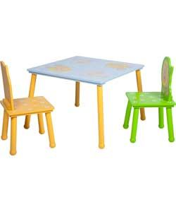 Animal Table and Chairs - Multicoloured.