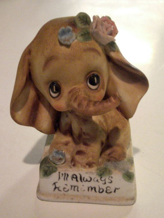 Vintage Elephant Figurine Iu0027ll Always Remember