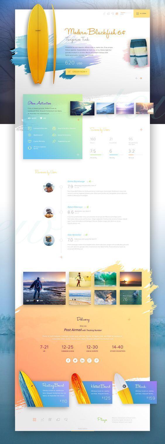 Surf Website Template