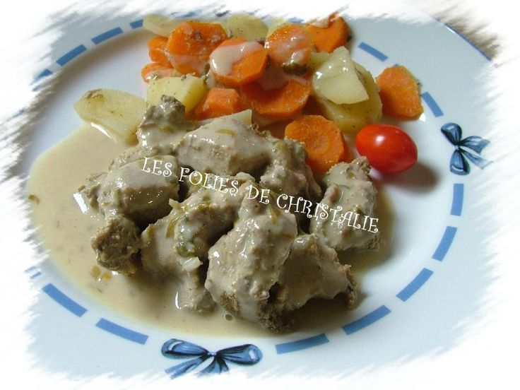 Sauté de porc sauce moutarde Thermomix, plat sur plusieurs niveaux