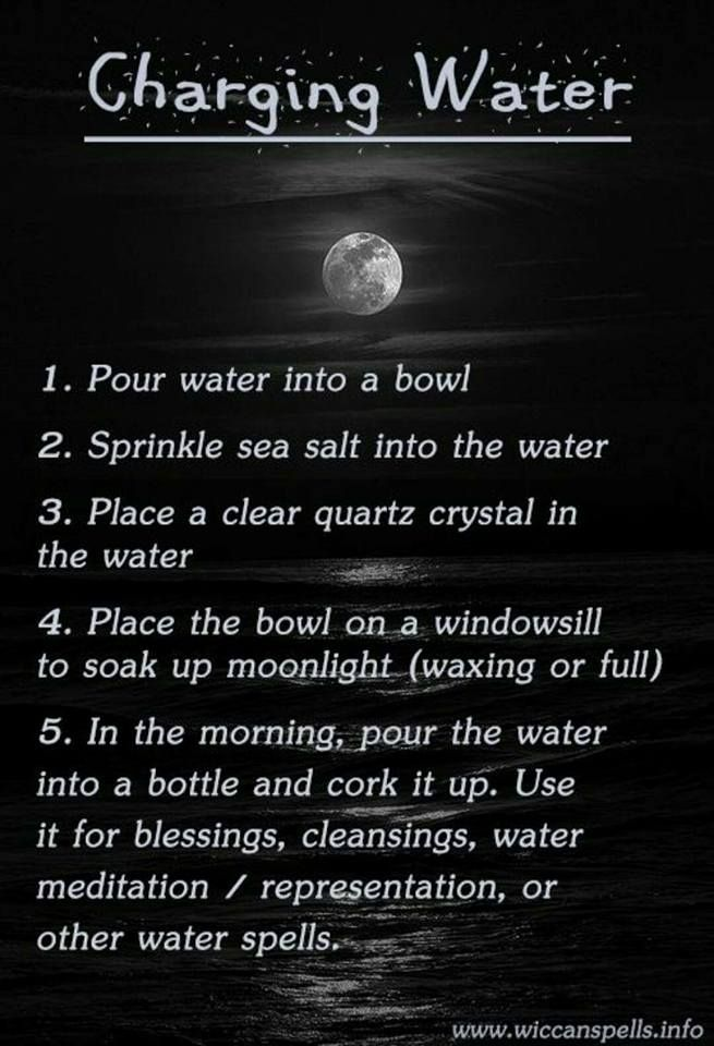 How to give water Spiritual Power