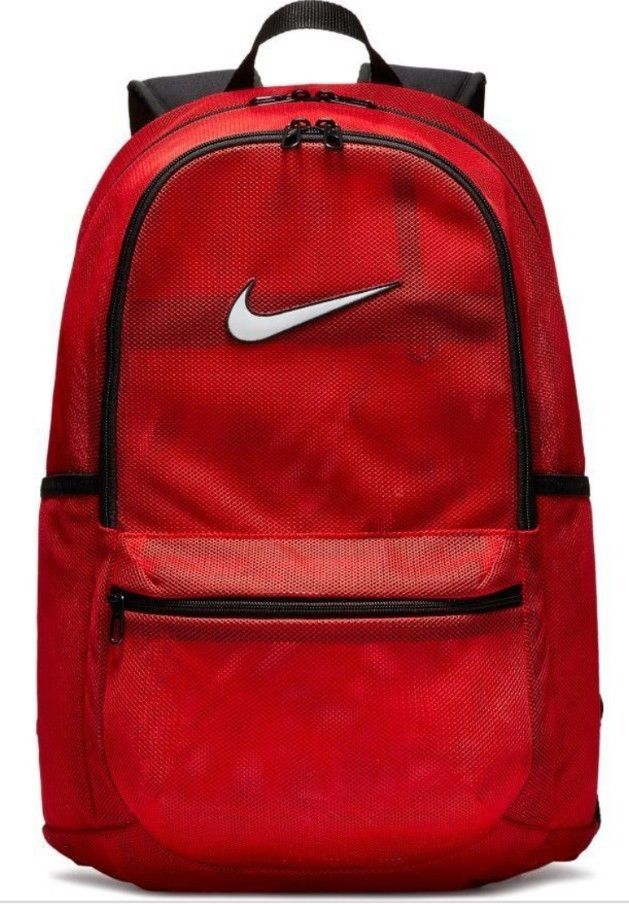 reputable site 54b94 1c926 NIKE BRASILIA MESH BACKPACK TRANSPARENT BA5388 657 Red New  NIKE  Backpack