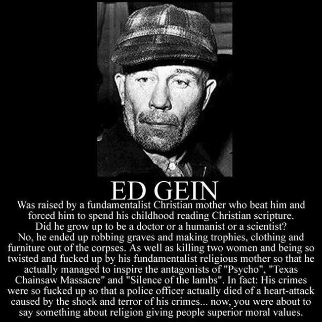 an introduction to the murder history of edward gein Real-life psycho ed gein dies author historycom staff website name historycom year published  edward theodore gein was born in lacrosse.
