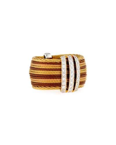 Petra Multi-Row Micro-Cable Pave Diamond Band Ring, Size 7