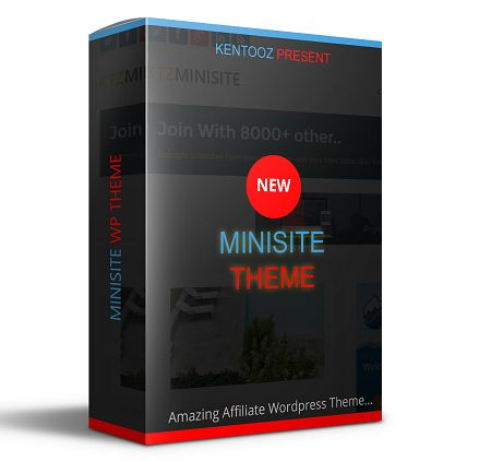 Minisite is a wordpress theme that is focused on creating affiliate sites for affiliates, internet marketer and list building. This theme comes for people who would like to set up an affiliate website promoting all sorts of products. It is extremely easy to use and set up!