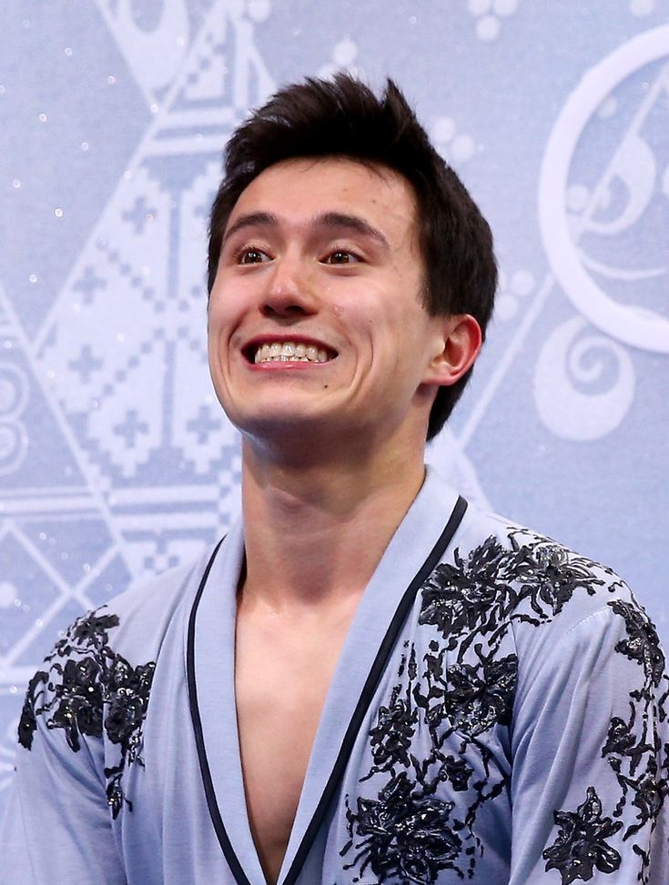 Patrick Chan gives a smile in the kiss and cry area, after performing his free skate, during the Sochi 2014 Olympic Winter Games, held in Sochi, Russia, on February 14, 2014.