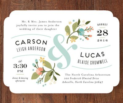 perfect floral summer wedding invite