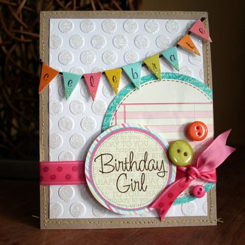 Best images about crafts little girl birthday cards