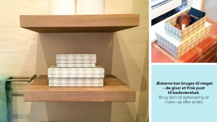Inspiration til badeværelset Se mere på:  http://www.blog.bog-ide.dk