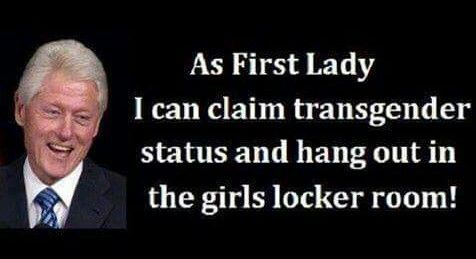 Bill Clinton as first lady. Lord help us all ~ RADICAL Rational Americans Defending Individual Choice And Liberty