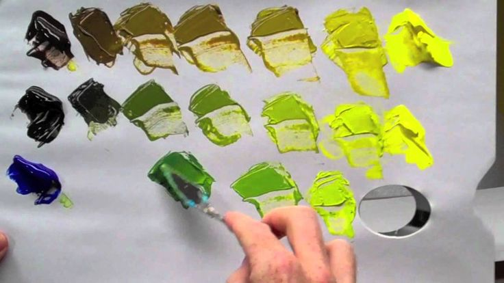 How to mix green acrylic paint, willkempartschool.