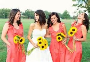 coral and sunflower weddings - Bing Images