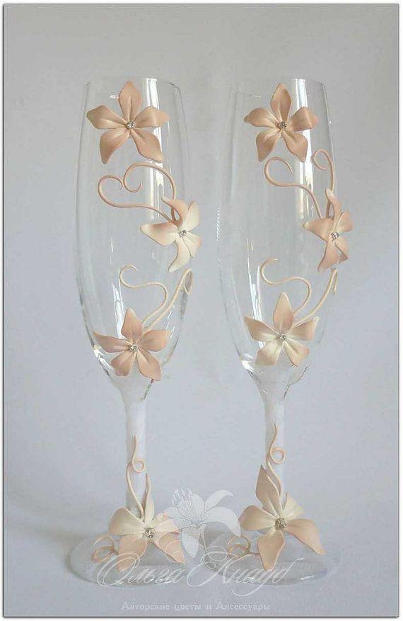 Wedding glasses, Swarovski Crystal, champagne flutes, LACE wedding bride and groom glasses, Personalized Wedding glasses, Personalized rusti