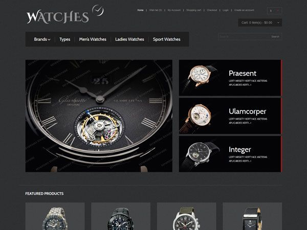 Watches OpenCart Theme