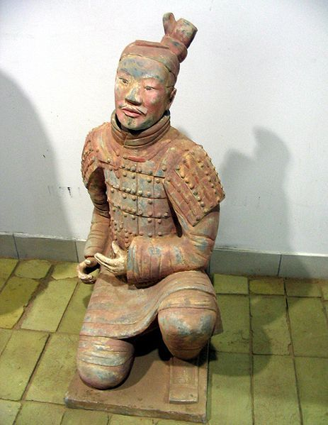 Ancient Chinese Terracotta Army Warrior, Qin Dynasty. These things are so fascinating. But the scare the living daylights out of me if I saw them in person