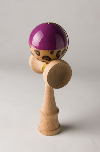 kendamas | Lamani Customs – Half N Half – Leopard & Purple