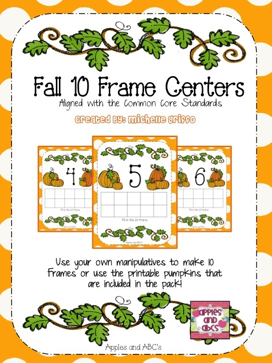 Pumpkin/Fall 10 Frame Center