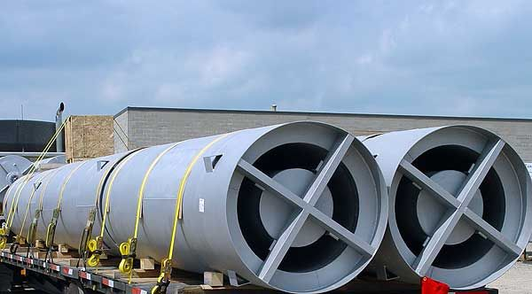 Circular Absorptive and Reactive Engine Mufflers - dB Noise Reduction