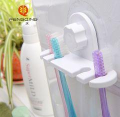 文心创意静电膜无痕吸盘系列 牙刷支架 浴室防水吸盘 情侣牙刷架